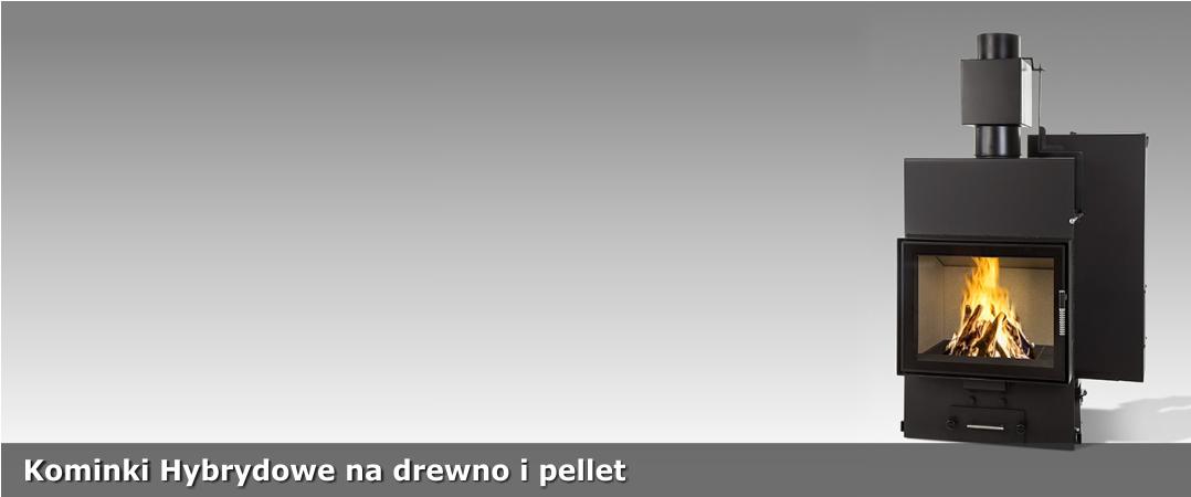 Kominki hybrydowe na drewno i pellet